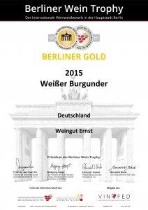 weingut ernst berliner gold 2015 weisser burgunder