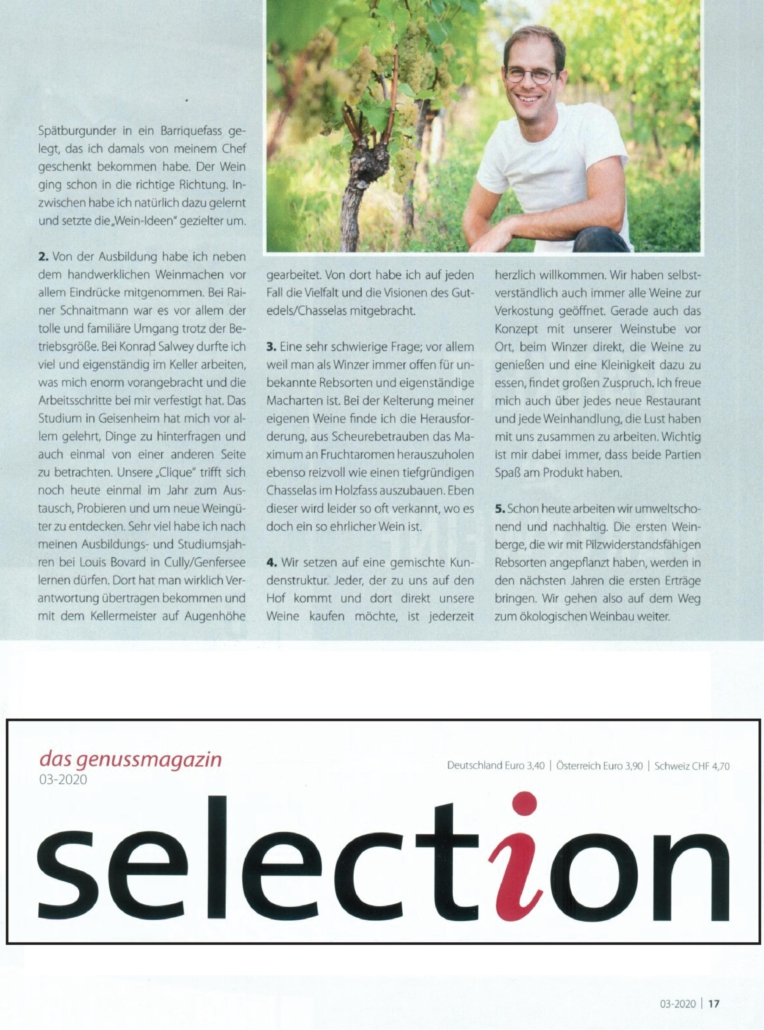 Zeitungsartikel Genussmagazin Selection Seite 2